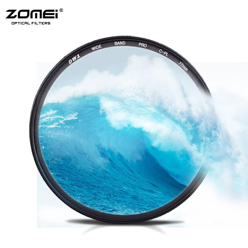 ZOMEI 72mm CIR-PL Circulaire Polarisant CPL Polariseur Filtre 67mm Polarisant Pour DSLR SLR Canon Nikon Sony Sigma Objectif