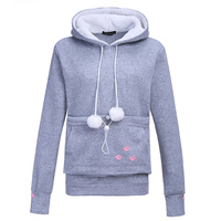Cashmere Cat Lovers Hoodies 2017 New Autumn Winter Cuddle Pouch Dog Pet Hoodies Casual Kangaroo Pullovers With Ears Sweatshirt