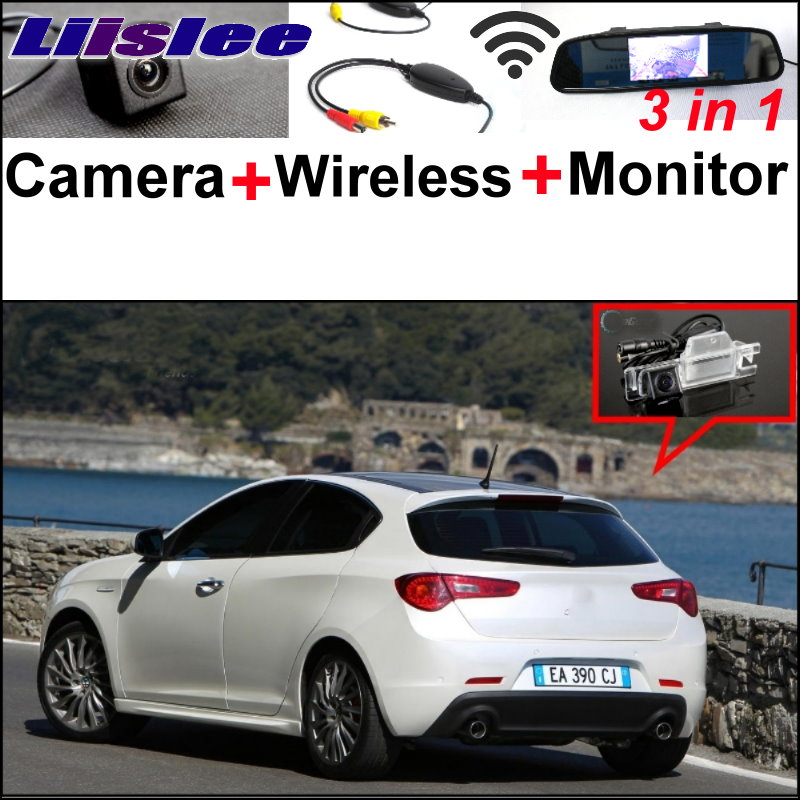 Liislee 3 in1 Special WiFi Camera+Wireless Receiver + Mirror Monitor EASY Parking System For Alfa Romeo Giulietta 940 2010~2015 liislee special wifi camera wireless receiver mirror monitor parking system for porsche 996 997 991 carrera 911 turbo gt2 gt3