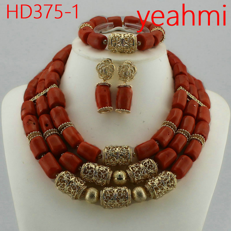 African Wedding Bridal Orange Coral Beads Jewelry sets Nigerian Women Beads Necklace Jewelry Sets Free Shipping HD375-2African Wedding Bridal Orange Coral Beads Jewelry sets Nigerian Women Beads Necklace Jewelry Sets Free Shipping HD375-2