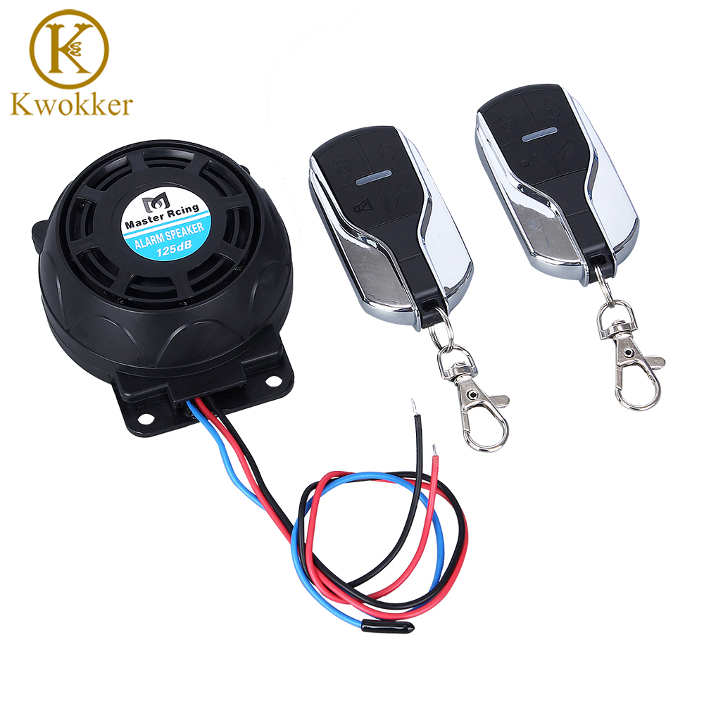 Remote Start Flameout Type System + 125dB Motorcycle Alarm Speaker + Anti-theft Security System All In One