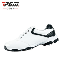 Professional Men PU Leather Golf Shoes Waterproof Athletic Trainers Men Breathable Nail Anti Skid Golf Shoes Size EU 44 AA10092