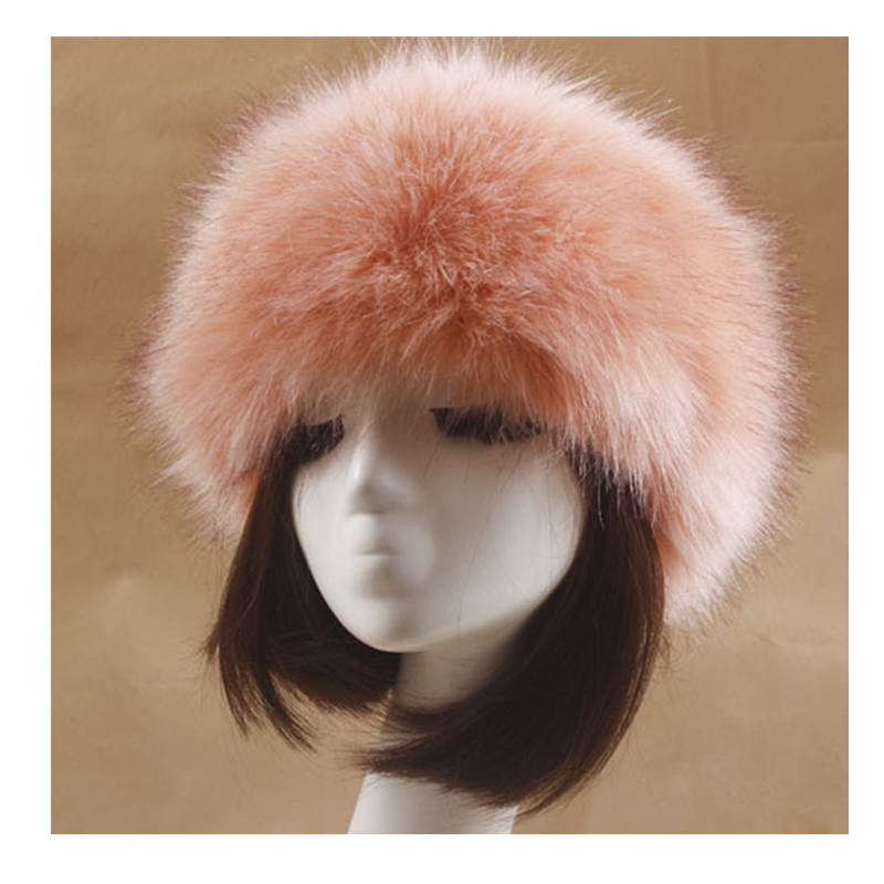92b764d75 Women Winter Thick Fluffy Russian Cap Faux Fur Headband Hat Lady Winter  Warm Earwarmer Ski Hats Hot