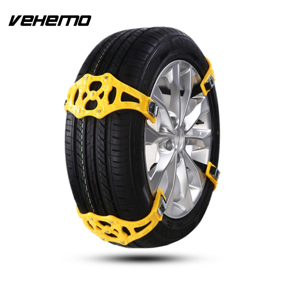 Vehemo 1 Pc Snow Tire Belt Roadway Safety Snow Chain Thickened Truck SUV Anti-Skid Chains Emergency Universal Easy Installation