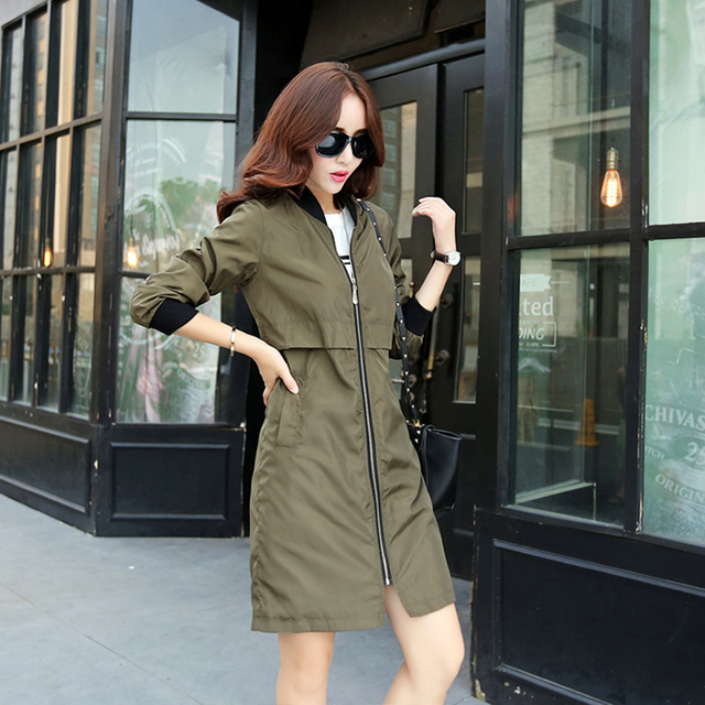 2015 New Autunm Winter Women Trench Coat Slim Fashion Style Long Streetwear Windbreaker Patchwork Casual Outerwear Trench Coat