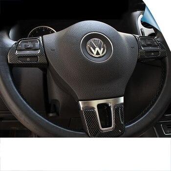 lsrtw2017 carbon fiber abs car steering wheel trims for volkswagen tiguan jetta mk6 2010-2017