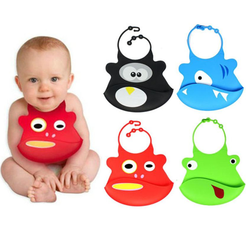 5-MB Child Children Boy Girl Kid Baby Bibs Eat Solid Convenience Health Silicone Waterpr ...