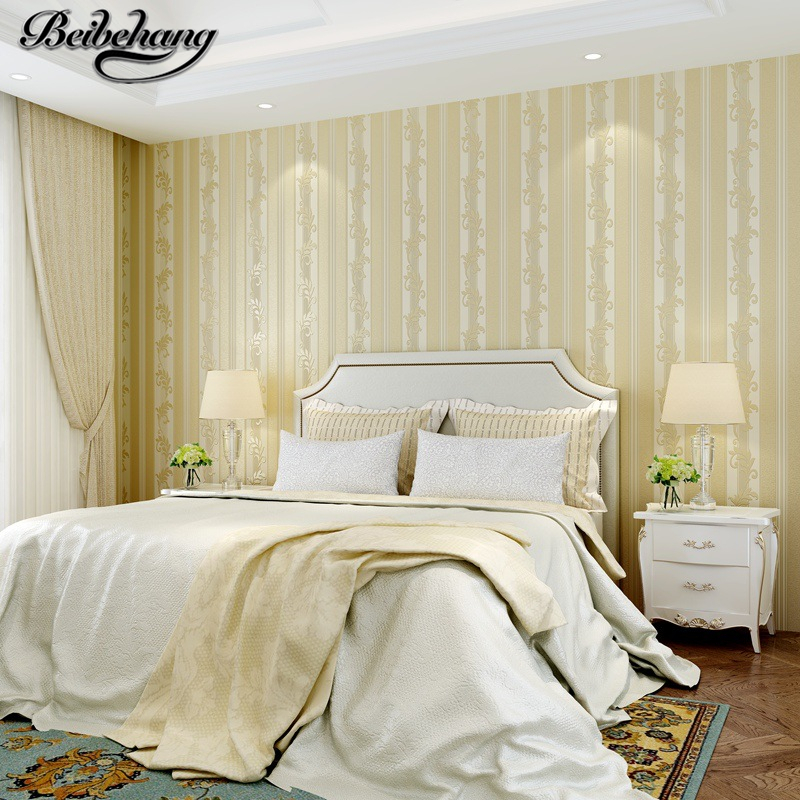 beibehang Simple modern vertical stripes bedroom wallpaper European nonwovens living room background wall paper papel de parede beibehang papel de parede 3d wallpaper vertical stripes modern minimalist bedroom living room sofa tv background 3d wall paper