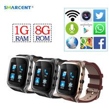 Smarcent X01S Android SmartWatch 3 г Wi-Fi Bluetooth 1 г + 8 г GPS Смарт часы 1.3 ГГц двухъядерный Часы сердечного ритма с Камера PK H1 T1