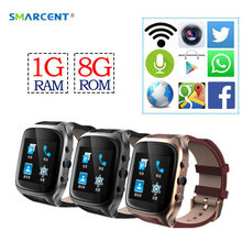 SMARCENT X01S Android Smartwatch Phone Bluetooth Smart Watch 1.3GHz Dual Core IP67 GPS Watch Cam 1G 8G Heart Rate 600mAh 3G WiFi