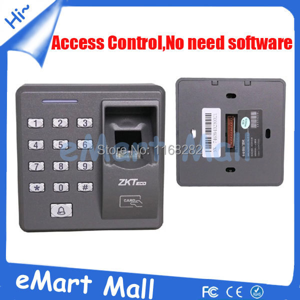 ФОТО Free shipping X7/125KHz RFID Security Standalone Biometric Fingerprint Access Control with 20 piece RFID Keyfobs