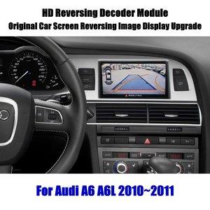 Image 1 - Actualización de pantalla de coche para Audi A6 A6L 2008 2009 2010 HD, decodificador de pantalla, reproductor, imagen de cámara de estacionamiento trasera y inversa