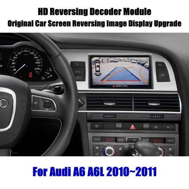 Actualización de pantalla de coche para Audi A6 A6L 2008 2009 2010 HD, decodificador de pantalla, reproductor, imagen de cámara de estacionamiento trasera y inversa