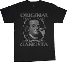 Benjamin Franklin original gangsta t-shirt para homens t-shirt legal engraçado(China)
