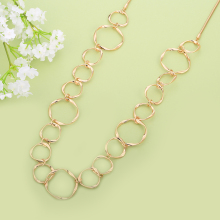 Elegant Multi-sized Circle Necklace – 4 Colors