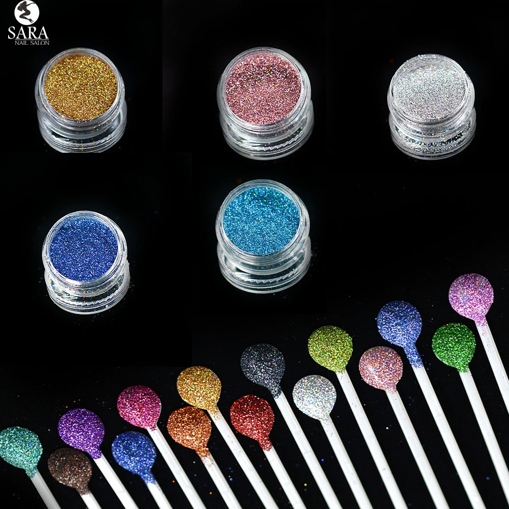 Nail Salon 1x3g Jar Shiny Laser Holographic Dust Acrylic Nails Art Glitter Tips Gel UV Polish Nail Crafts Decoration SAL01-16 new tp3196s1 touch screen glass panel