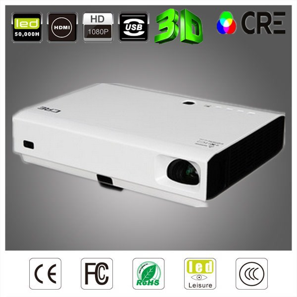 3800ANSI Lumens 300inch 100000 1 1080P Video Home Theater Digital DLP 3D font b Projector b