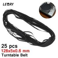 LEORY 25PCS 128x5x0 6mm Wholesale Turntable Belt Rubber LongPlayer Phonograph Belt For LP Replace Plattenspieler Belt