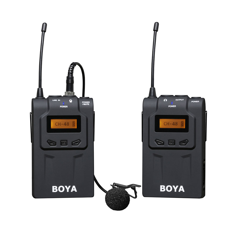 BOYA BY WM6 Professional Wireless Microphone System 48 Channel Omnidirectional Lavalier Lapel Microphones For DSLR Camcorder Mic