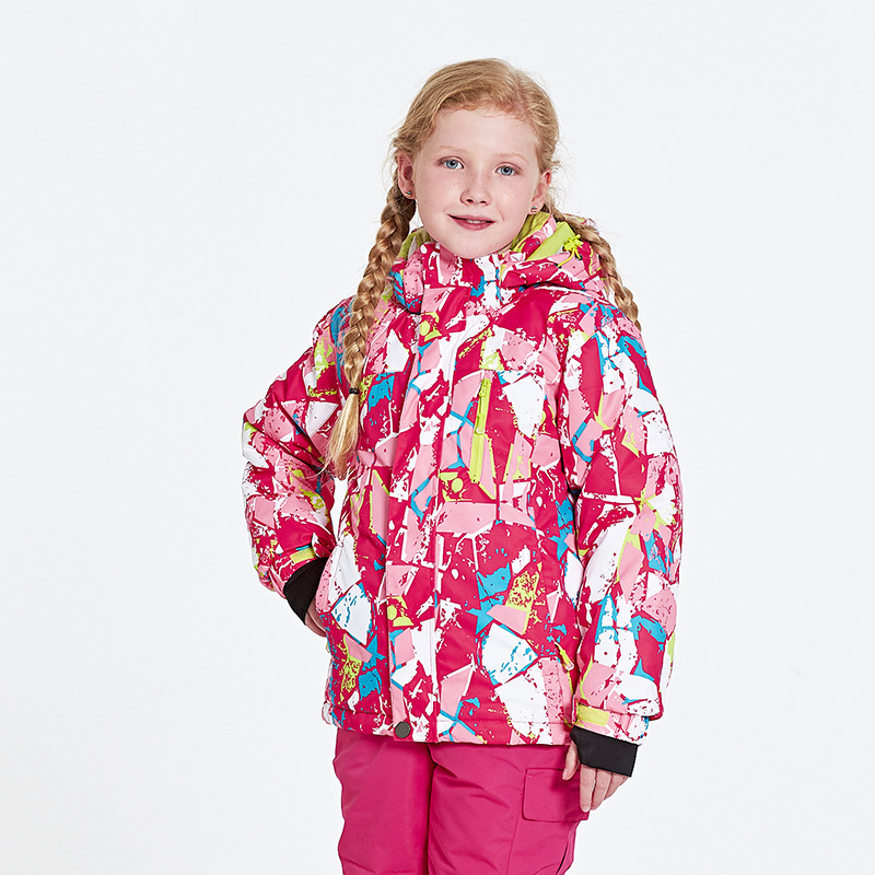 New childrens snow skiing childrens winter warm sports jacket boys and girls outdoor clothing hooded  windproof warm jacketNew childrens snow skiing childrens winter warm sports jacket boys and girls outdoor clothing hooded  windproof warm jacket