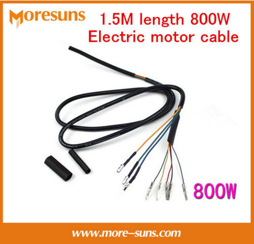 Free Ship Electric Motor Cable1.5M Length 800W Brushless Motor Wire 8 Core High-temperature Copper Wire Electrie Wire Kit
