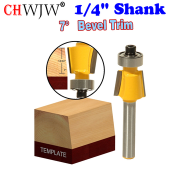 1PC 1/4 Shank 7 Degree Bevel Trim Router Bit with Glue Well - Chwjw 14931q
