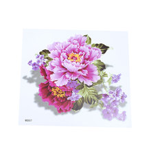 Watercolor Flower Tattoo Stickers Waterproof Temporary Adult Art Fake Female Mens Disposable