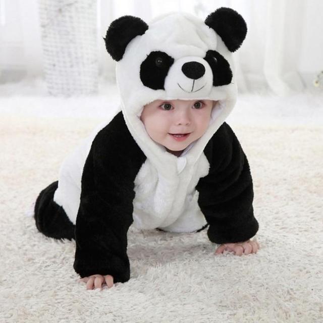 Novo Inverno Animais Casaco Casaco Quente para o Menino Menina Roupa Do Bebê Siamese Romper