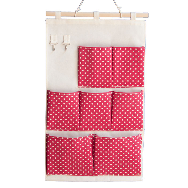 7Pockets Waterproof Wall Hanging Storage Bags Hanging Organizer Linen  Closet Hanging Storage Pockets Organizador Hanger Pouch