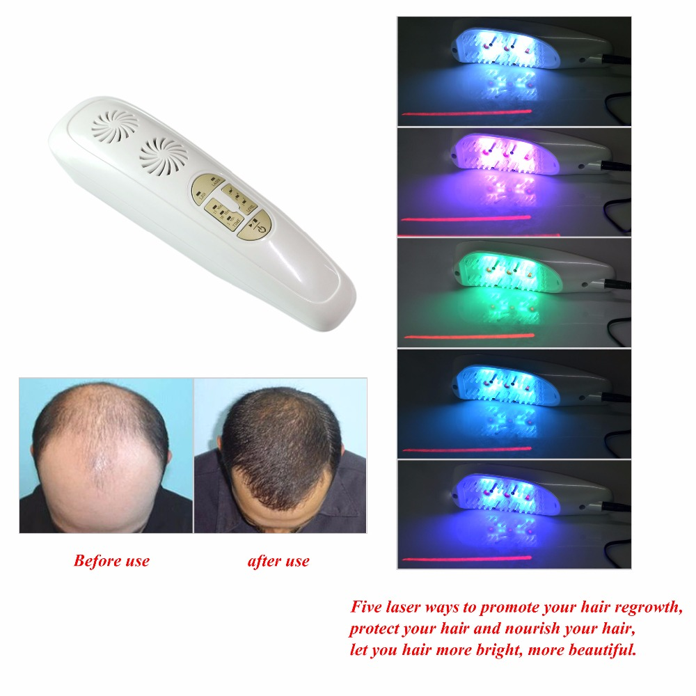 Hair Regrowth Laser Comb Anti Hair Loss Promoptes New Hair Growth Head Therapy Massage Machine Alopecia Scalp Remove Dandruff green sandalwood combed wooden head neck mammary gland meridian lymphatic massage comb wide teeth comb