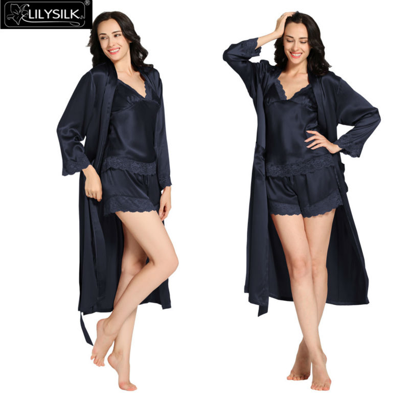 1000-navy-blue-22-momme-lace-silk-camisole--dressing-gown-set