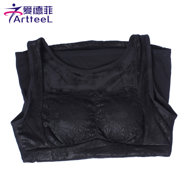 5702ba1e22064 Hot Winter Sexy Lace Women Bra Bustier Crop Cropped Fitness Vest Halter  Tank Tops