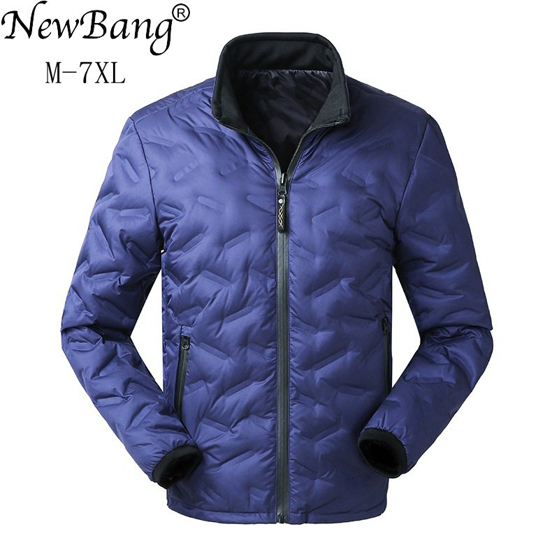 NewBang Brand 6XL 7XL Men Fashions Down Coat Male Down Jacket Men's Winter Thick Warm Double Side Reversible Feather Jacket