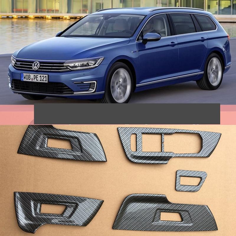 Lsrtw2017 Carbon Fiber Abs Car Window Control Panel Trims For Volkswagen Passat B8 2016 2017