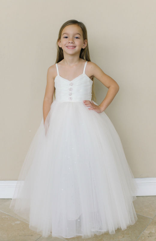 Hand Make Flower Girls Dresses For Wedding Gowns White Girl Birthday Party Dress A-Line Girls Dress Long Mother Daughter Dresses new white ivory nice spaghetti straps sequined knee length a line flower girl dress beautiful square collar birthday party gowns