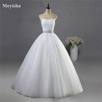 2014 Strapless Corset Diamond White Ivory Formal Crystal Beads Wedding Dresses 2015 Bridal Dress Plus Size
