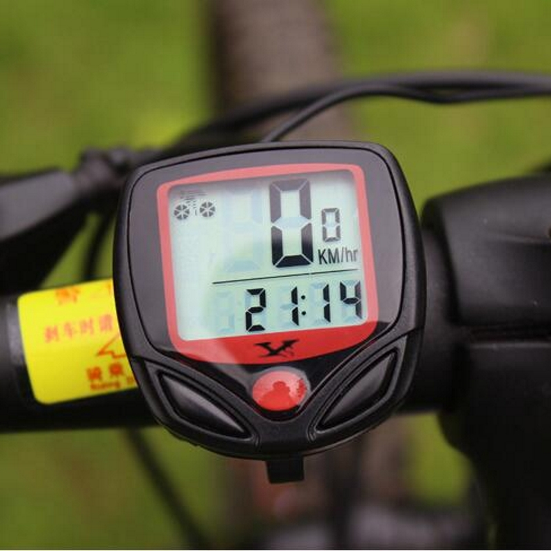 Bike Computer Stopwatch Bicycle-Odometer-Speedometer Riding-Accessories-Tool Display