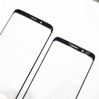 10 piezas Original para Samsung Galaxy S8 S8 + S9 S9 + Plus Nota 8 9 frente de Lentes de vidrio exterior reemplazo de reparación del Panel de pantalla táctil