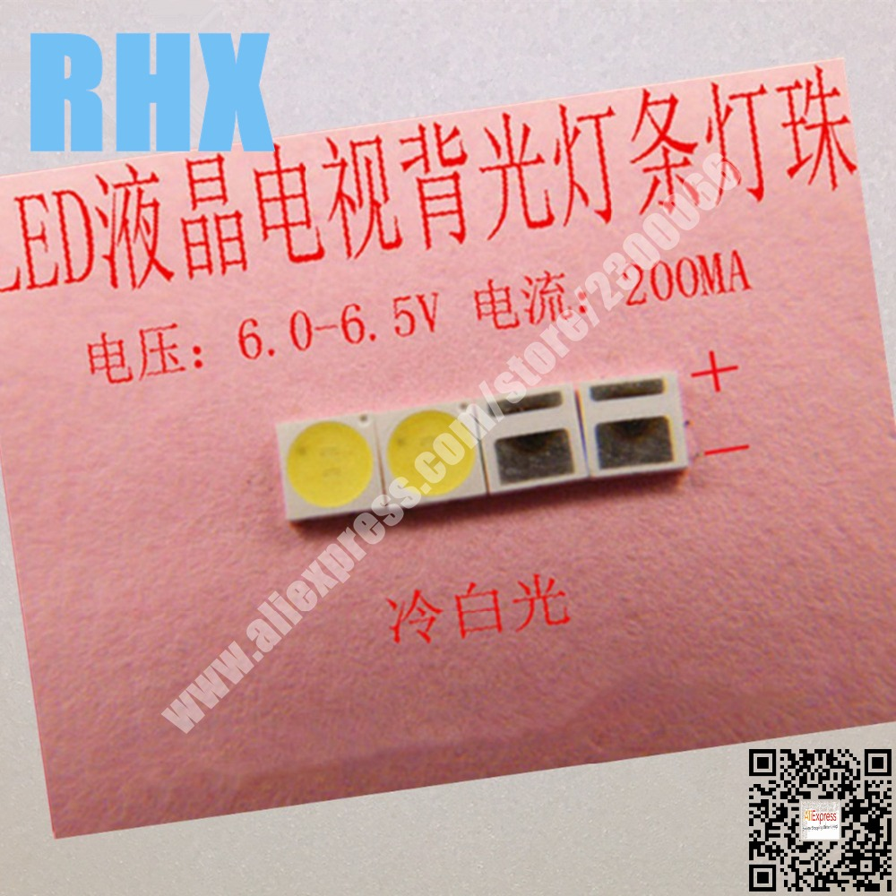 200piece/lot For Repair LCD TV LED Backlight Article Lamp SMD LEDs  6V 3030 200MA  Cold White Light Emitting Diode
