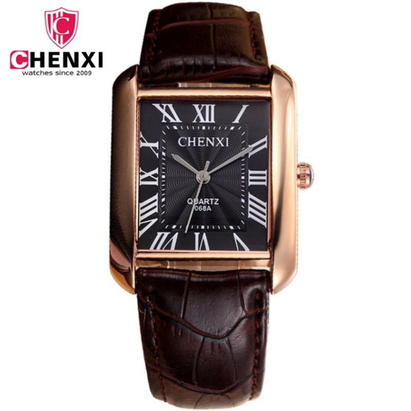 Fashion Classic Men's Quartz Watches CHENXI Luxury Classic Design Rectangular Male Watches Relogio Masculino Horloges Erkek Saat