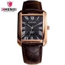 Relojes de cuarzo para hombre clásicos de lujo CHENXI relojes rectangulares  masculinos de lujo reloj Masculino 3d7db3c5d9e1