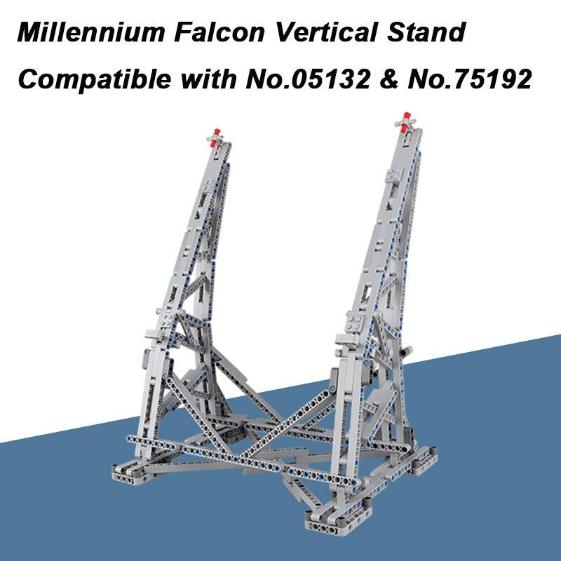 MOC Millennium Falcon Vertical Affichage de Stand Compatible avec Ultimate Collector Modèle No 05132 et No 75192