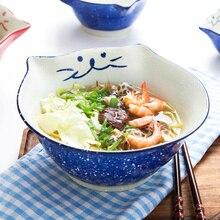 1 шт. мультяшная Китти керамическая обеденная миска ручная роспись кошка Фарфоровая чашка для риса лапша миска для десерта миска посуда