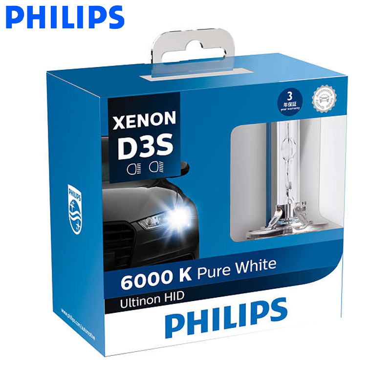 Philips D1S D2S D2R D3S D4S Ultinon HID 6000K Cool Blue Xenon White Light Car Upgrade