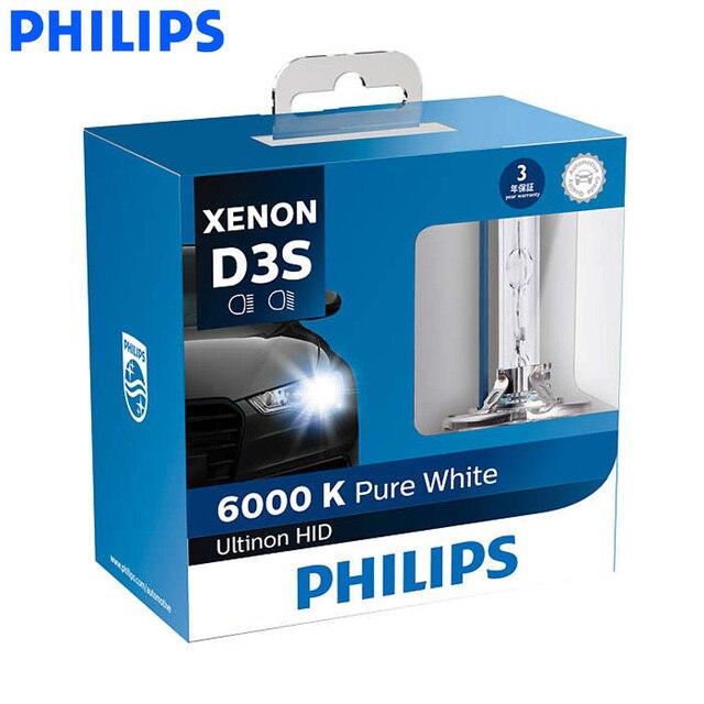 Philips D1S D2S D2R D3S D4S Ultinon escondió 6000 K azul xenón blanco coche de la luz de actualización bombillas de faros Flash rápido comienzo. par