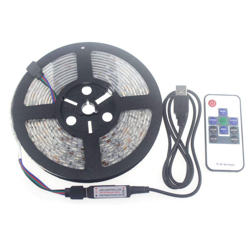 Led 5 v usb rgb 5050 smd led strip impermeable 5 m 60 leds / m rgb - Iluminación LED