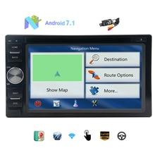 """Cámara libre + Más Nuevo Sistema Android 7.1 Turrón Estéreo 2 Doble Din Coche Reproductor de DVD de 6.2 """"Con Pantalla Táctil GPS Autoradio Bluetooth de Radio"""