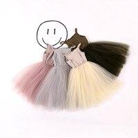 2017 Spring New Small Girls 100 Cotton Matching Mesh Net Yarn Skirt Children S Clothing Summer