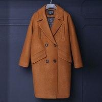 Winter Coats Women Casaco Feminino 32 Wool Coat Female Wool Blends Trench Blazers Gray Wool Coat