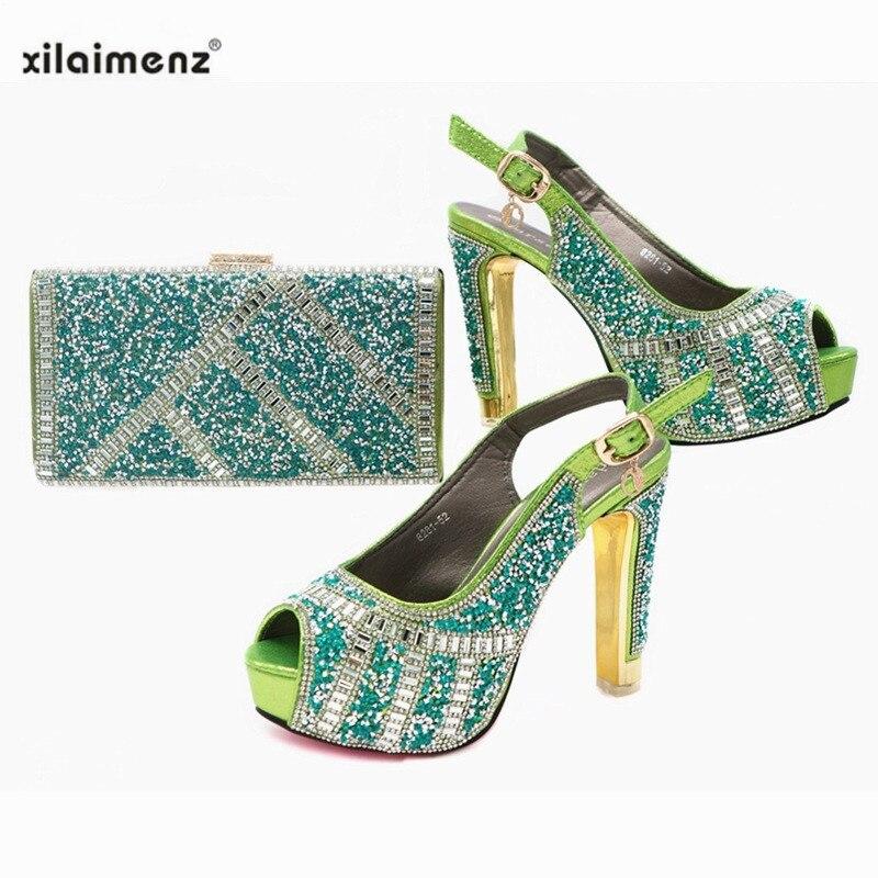 98550c3f0dec A Altos La Conjunto Mujer Super green Estilo pink 2019 Zapatos Nuevo Bolsa  Y Fiesta Bolso ...